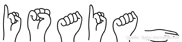Isaiah in Fingersprache für Gehörlose