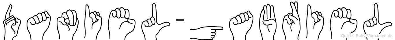 Daniel-Gabriel im Fingeralphabet der Deutschen Gebärdensprache