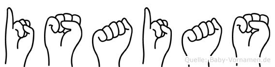 Isaias in Fingersprache für Gehörlose