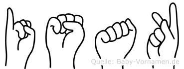 Isak im Fingeralphabet der Deutschen Gebärdensprache
