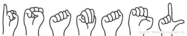 Isamael im Fingeralphabet der Deutschen Gebärdensprache