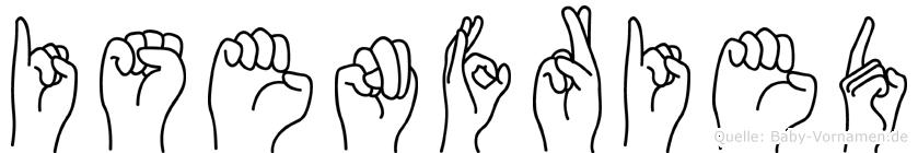 Isenfried im Fingeralphabet der Deutschen Gebärdensprache