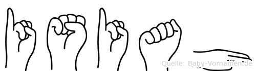 Isiah in Fingersprache für Gehörlose