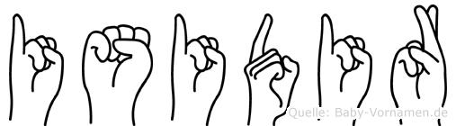 Isidir im Fingeralphabet der Deutschen Gebärdensprache