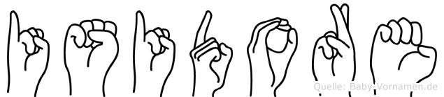 Isidore im Fingeralphabet der Deutschen Gebärdensprache
