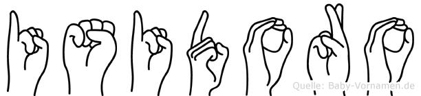 Isidoro im Fingeralphabet der Deutschen Gebärdensprache