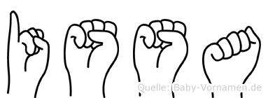 Issa in Fingersprache für Gehörlose