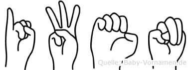 Iwen in Fingersprache für Gehörlose
