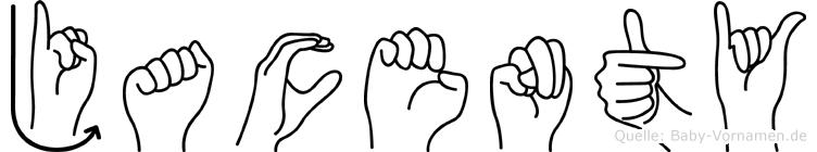 Jacenty im Fingeralphabet der Deutschen Gebärdensprache