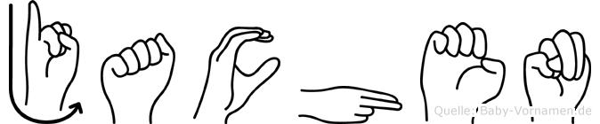 Jachen in Fingersprache für Gehörlose