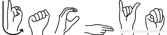 Jachym in Fingersprache für Gehörlose