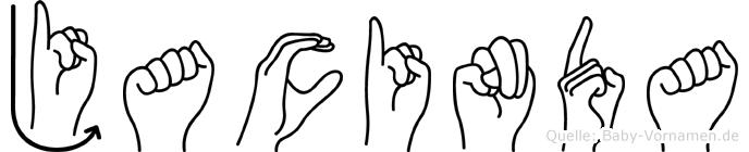 Jacinda im Fingeralphabet der Deutschen Gebärdensprache