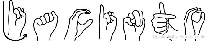 Jacinto im Fingeralphabet der Deutschen Gebärdensprache