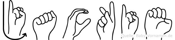 Jackie im Fingeralphabet der Deutschen Gebärdensprache