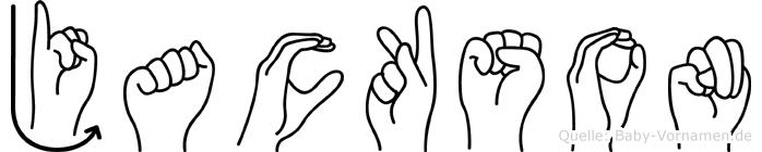 Jackson im Fingeralphabet der Deutschen Gebärdensprache