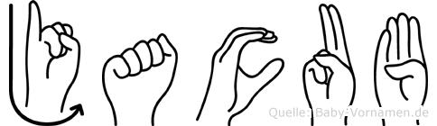 Jacub im Fingeralphabet der Deutschen Gebärdensprache
