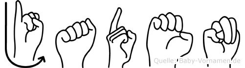 Jaden im Fingeralphabet der Deutschen Gebärdensprache