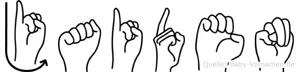Jaiden in Fingersprache für Gehörlose