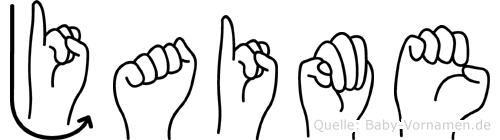 Jaime im Fingeralphabet der Deutschen Gebärdensprache