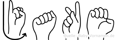Jake in Fingersprache für Gehörlose