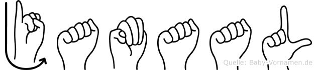 Jamaal im Fingeralphabet der Deutschen Gebärdensprache