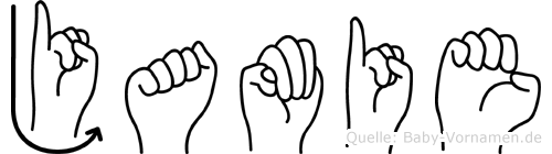 Jamie im Fingeralphabet der Deutschen Gebärdensprache