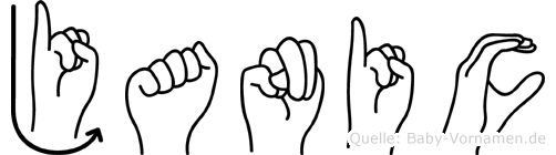 Janic in Fingersprache für Gehörlose