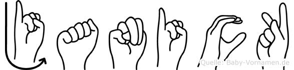 Janick in Fingersprache für Gehörlose