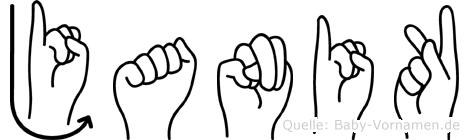 Janik in Fingersprache für Gehörlose