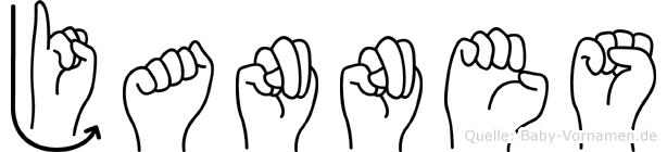 Jannes im Fingeralphabet der Deutschen Gebärdensprache