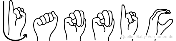 Jannic im Fingeralphabet der Deutschen Gebärdensprache