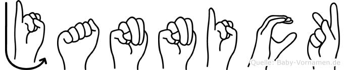 Jannick im Fingeralphabet der Deutschen Gebärdensprache