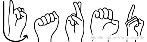 Jared im Fingeralphabet der Deutschen Gebärdensprache
