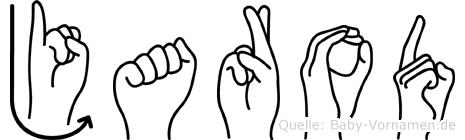Jarod im Fingeralphabet der Deutschen Gebärdensprache
