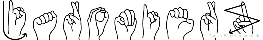 Jaromierz im Fingeralphabet der Deutschen Gebärdensprache