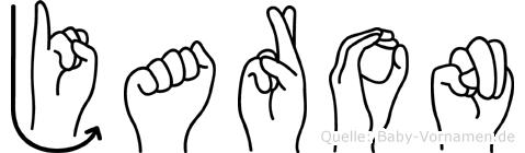 Jaron im Fingeralphabet der Deutschen Gebärdensprache