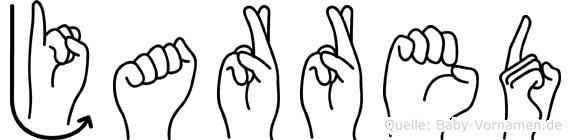Jarred im Fingeralphabet der Deutschen Gebärdensprache