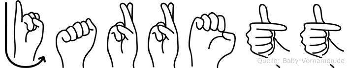 Jarrett im Fingeralphabet der Deutschen Gebärdensprache