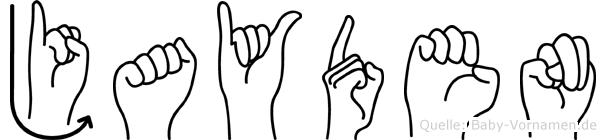 Jayden im Fingeralphabet der Deutschen Gebärdensprache