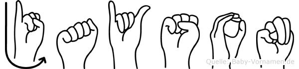 Jayson in Fingersprache für Gehörlose