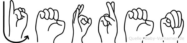 Jefrem in Fingersprache für Gehörlose