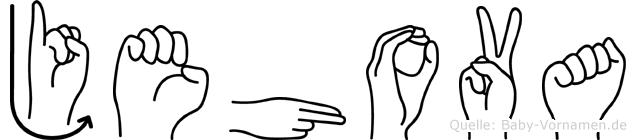 Jehova im Fingeralphabet der Deutschen Gebärdensprache