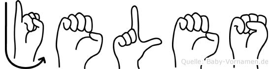 Jeles in Fingersprache für Gehörlose