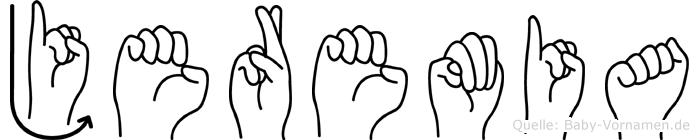 Jeremia in Fingersprache für Gehörlose