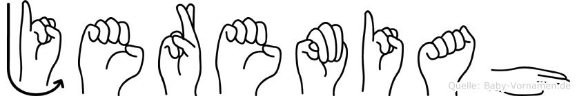 Jeremiah im Fingeralphabet der Deutschen Gebärdensprache