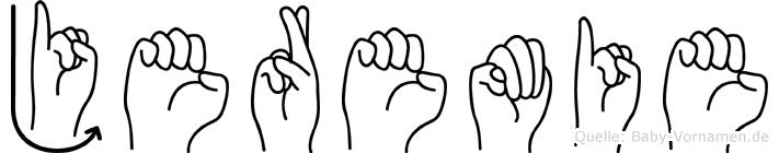 Jeremie in Fingersprache für Gehörlose