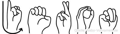Jeron in Fingersprache für Gehörlose