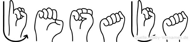 Jesaja im Fingeralphabet der Deutschen Gebärdensprache