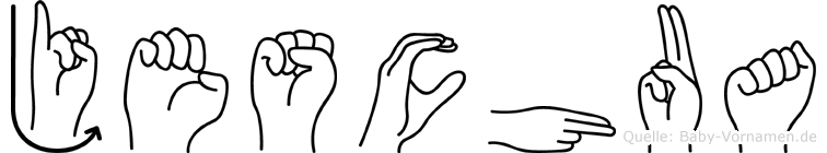 Jeschua im Fingeralphabet der Deutschen Gebärdensprache