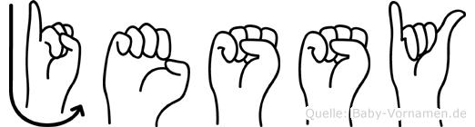 Jessy in Fingersprache für Gehörlose